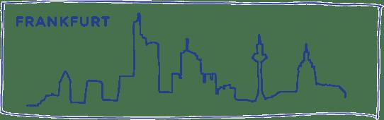 skyline zeichnung frankfurt
