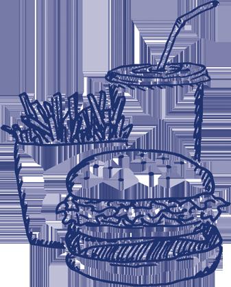 fast food zeichnung